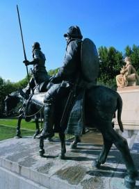 スペイン広場のドンキホーテ像