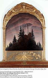 フリードリッヒ「山上の十字架(テッチェンの祭壇画)」
