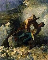 ミレー「モンマルトルの土木工事人達」