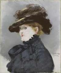 マネ「黒い帽子の女」
