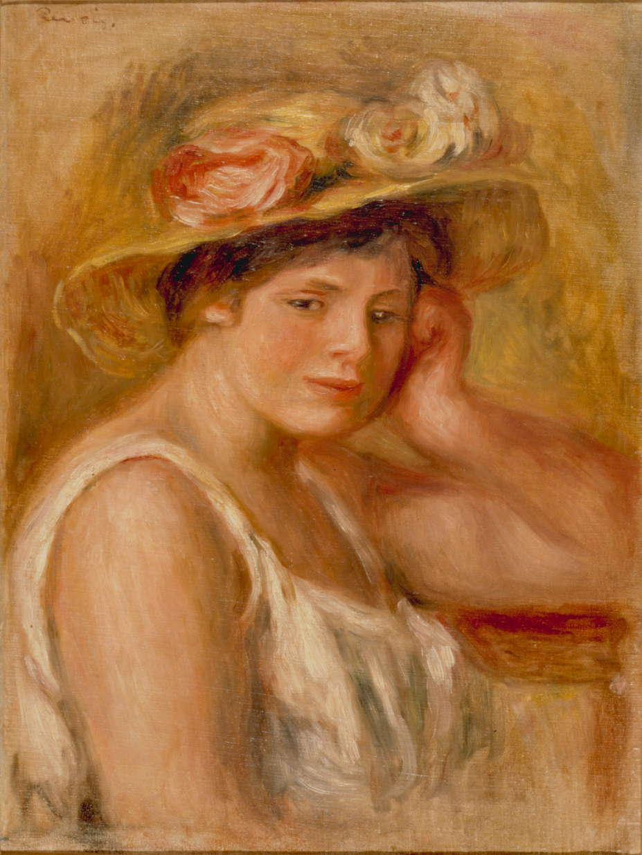 ルノワール「帽子の娘」