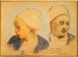 ゴーギャン「ブルターニュの女の頭部」