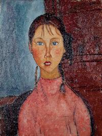 モディリアーニ「おさげ髪の少女」