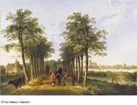 アルベルト・カウプ「メーデルヴォールの並木道」