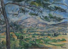 5.ポール・セザンヌ《大きな松のあるサント=ヴィクトワール山》
