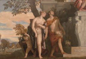 Paolo Veronese Venere e Mercurio presentano a Giove il figlio Anteros